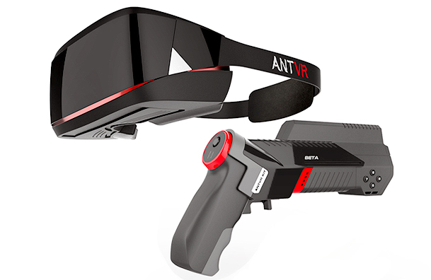 ANTVRs Headset with morphing controller