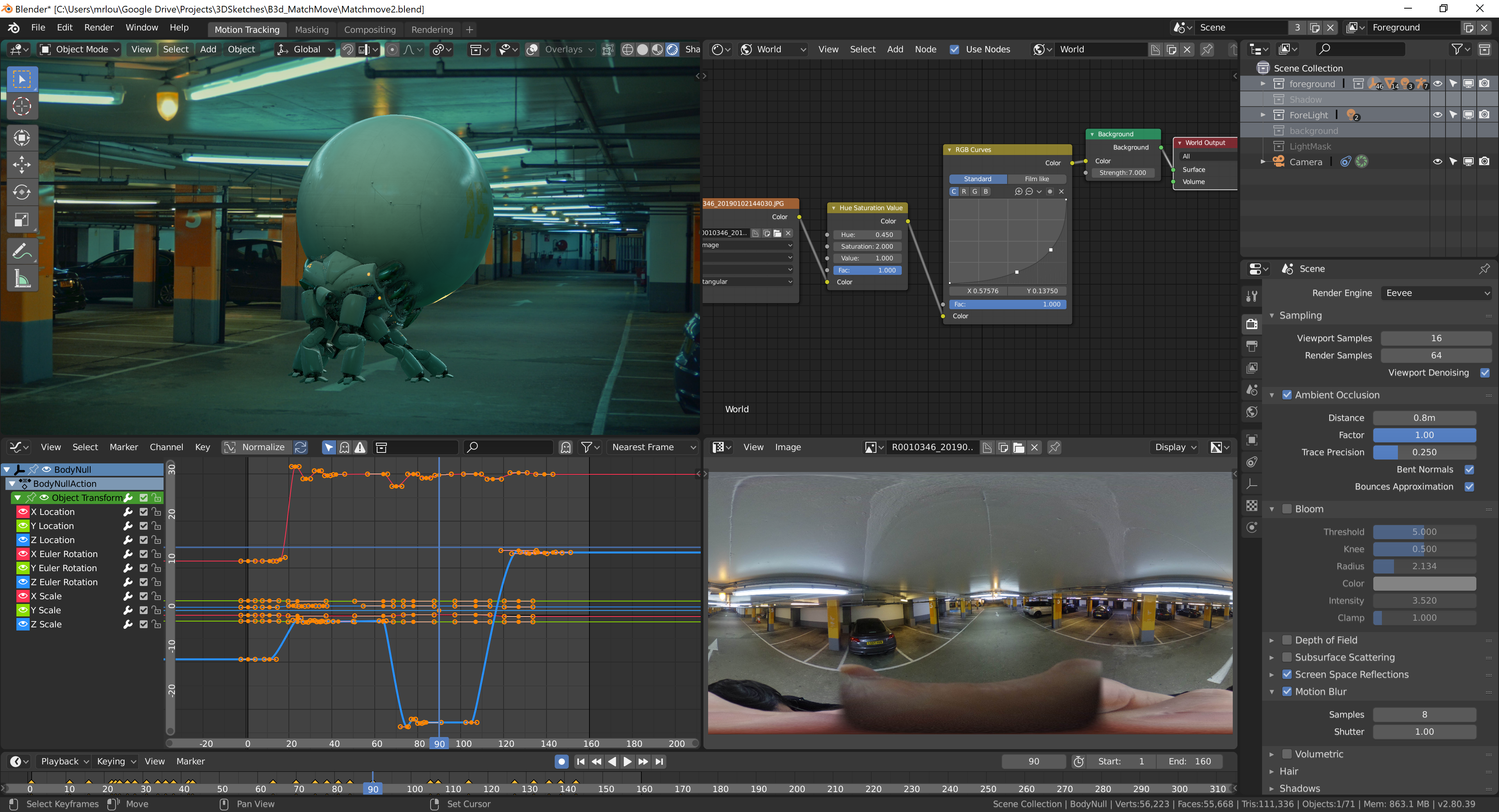 Matchmoving and Compositing in Blender 2.8 Eevee – We Are ...